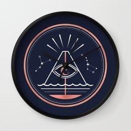 Iddu or Volcan Stromboli Wall Clock