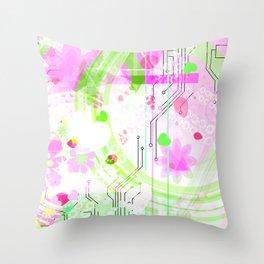 Digital Melon Throw Pillow