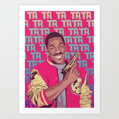 Beverly Hills Cop + music theme Art Print