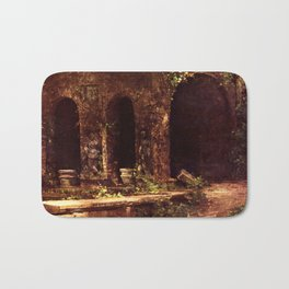 Carl Blechen - Grotto in The Park of The Villa d'Este near Rome - German Romanticism - Oil Painting Bath Mat