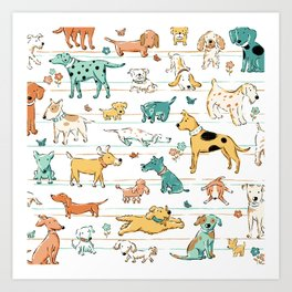 Dogs Dogs Dogs Art Print