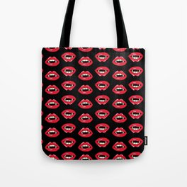 Vampire Mouth - Black Tote Bag