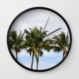 Three Palm Trees Wall Clock