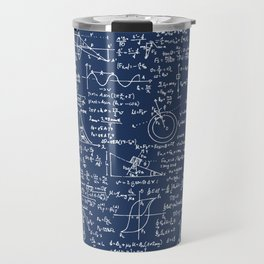 Physics Equations // Navy Travel Mug