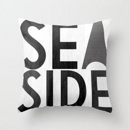 Seaside Typography 2 Throw Pillow
