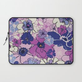 Red Violet and Navy Anemones Laptop Sleeve