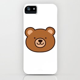 Brown Happy Bear Front Face iPhone Case