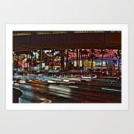 Las Vegas Nights 3 Art Print