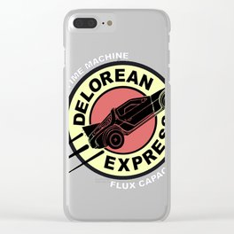 Delorean Express Clear iPhone Case