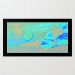 Space Rockets Art Print
