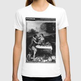Frans Francken the Younger - Paar aan tafel in landschap T-shirt