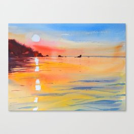 Lake Malawi sunset Canvas Print