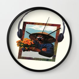 flowers for u Wall Clock