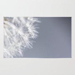 Sparkling dandelion with droplets - Flower water Rug