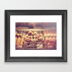 Macaron Shop  Framed Art Print