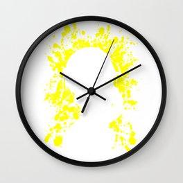 Anime Haurhi Paint Splatter Inspired Shirt Wall Clock