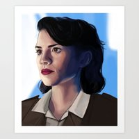 peggy carter Art Prints featuring Peggy carter.  by tantoun