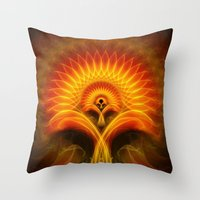 tree of life Throw Pillows featuring Life Tree by Christine baessler