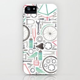 Cycling Bike Parts iPhone Case