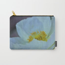 White Poppy of Peace by Reay of Light Carry-All Pouch