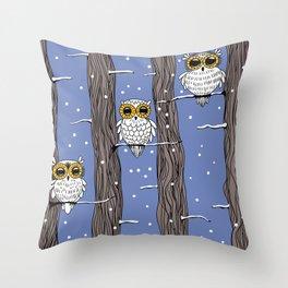 Owl birds Throw Pillow