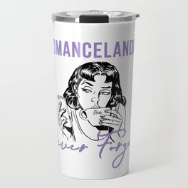 Romancelandia Never Forgets -- Lavender Travel Mug