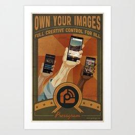 Pressgram Propaganda Poster Art Print