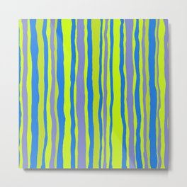 SUMMER RIVER Stripe Metal Print