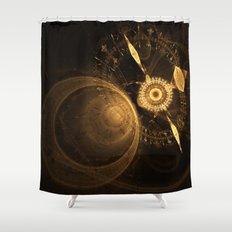 Golden Clock Shower Curtain