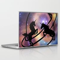 unicorns Laptop & iPad Skins featuring Space Unicorns by haroulita