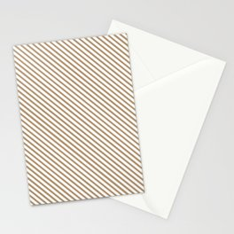 Iced Coffee Stripe Stationery Cards