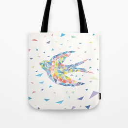 Triangled Swallow Tote Bag