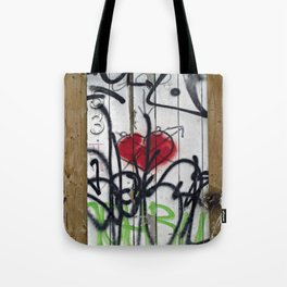 Fence with Heart Tote Bag