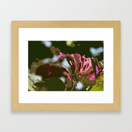 Hibiscus Abstract Framed Art Print