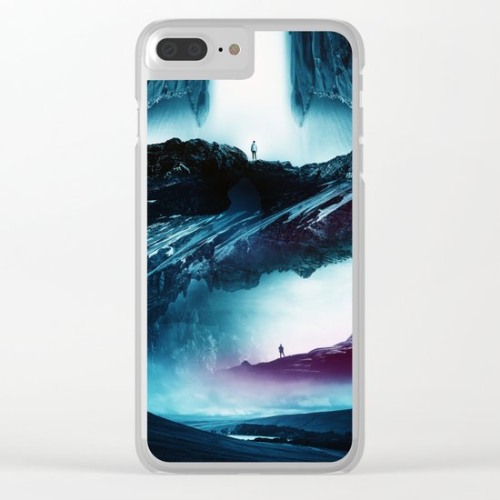 Teal Time Walking Clear iPhone Case