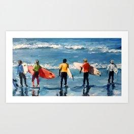 Crown City Surf Kids Art Print