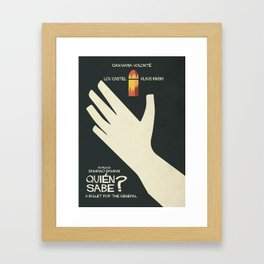 Quién sabe? Movie poster with Klaus Kinski, Gian Maria Volonté, Lou Castel, by Damiano Damiani Framed Art Print