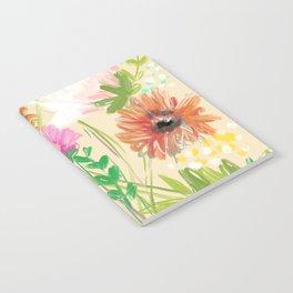Peach Floral Notebook
