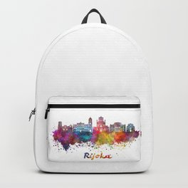 Rijeka skyline in watercolor Backpack