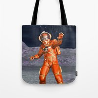 astronaut Tote Bags featuring Astronaut by Design Windmill
