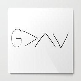 God is greater v2 Metal Print