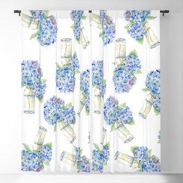 Blue Hydrangea, Still Life Blackout Curtain