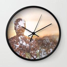 sunset portrait Wall Clock