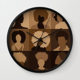 FOR BROWN GIRLS COLLECTION COLLAGE Wall Clock