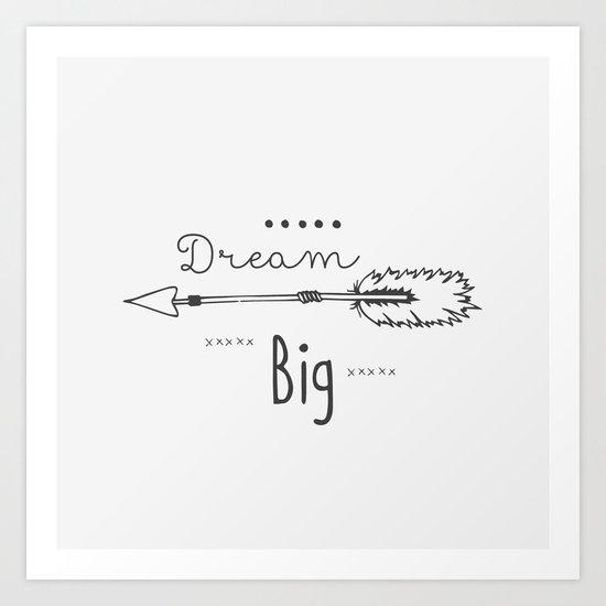 Dream big gray Art Print