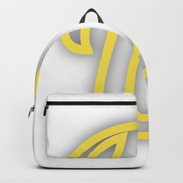 Letter U in Yellow Backpack