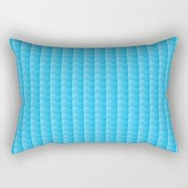 Ocean Blue waves Rectangular Pillow