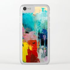 Summer at the ocean Clear iPhone Case