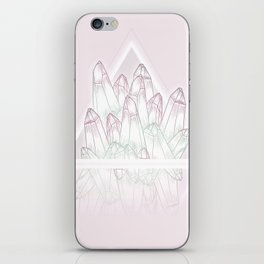 Crystals - Pink iPhone Skin