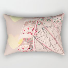 Ferris wheel nursery and heart bokeh on pale pink Rectangular Pillow